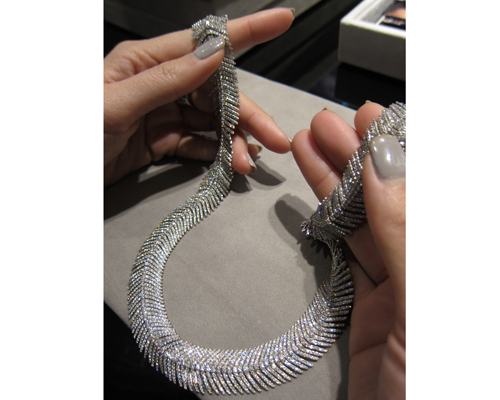 High Jewellery diamond necklace from the Feather collection, SUTRA JEWELS