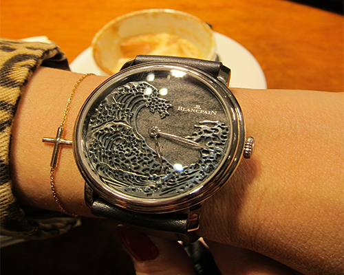 Blancpain Metiers d'Art 8 Jours Manuelle 'The Great Wave' from the Villeret collection