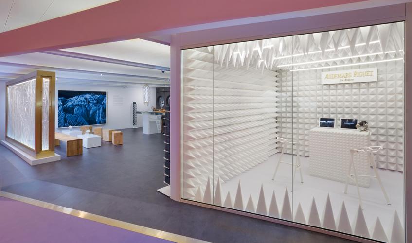 Audemars Piguet's booth at Art Basel in Hong Kong