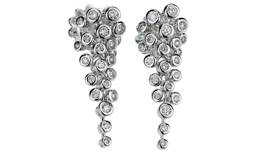 Orecchini diamond earrings in bezel setting, BIBIGI