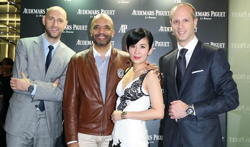 From L to R: Tim Sayler, Olivier Audemars, Sandra Ng and David von Gunten