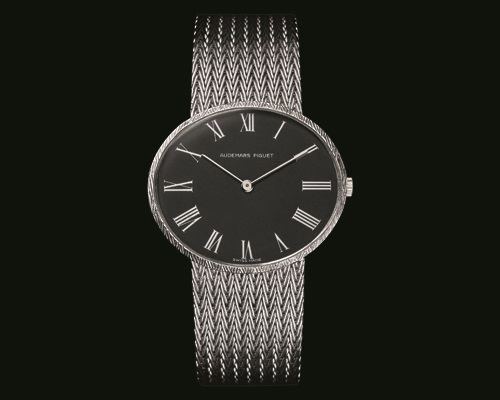 The 1970 Horizontal Elliptical watch featured an extra-thin calibre 2003 under a slate grey dial.