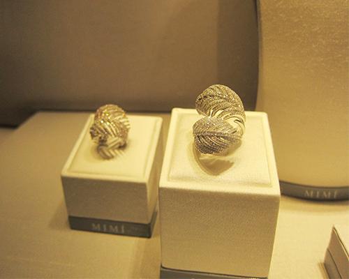 Feather diamond rings, MIMI