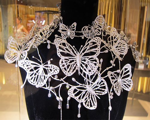 Butterfly necklace, KIMBERLITE DIAMONDS