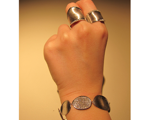 Rings and bracelet from the Lunaria collection, MARCO BICEGO