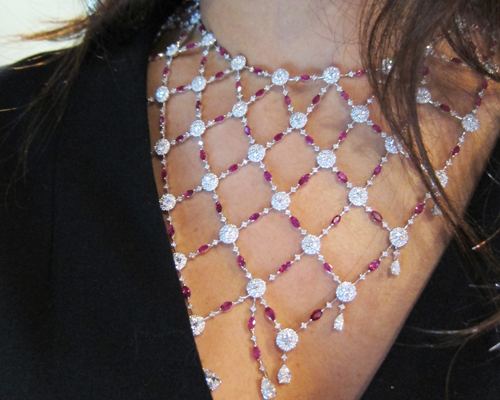 Necklace in rubies and diamonds from the Tribute collection, QAYTEN