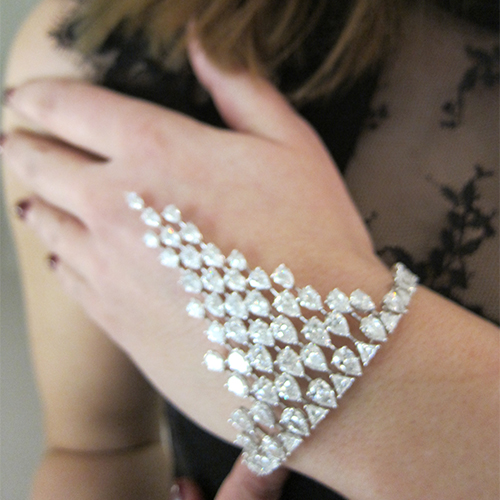 High jewellery bracelet from the Cassiopee collection, MESSIKA