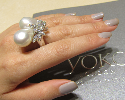 One of a kind Baroque pearl ring, YOKO LONDON
