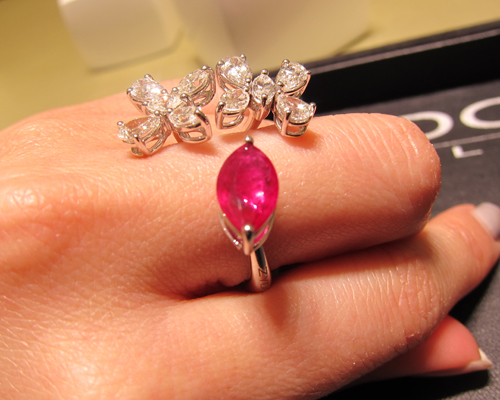 Ruby and white diamond ring from the Spring collection, ZYDO