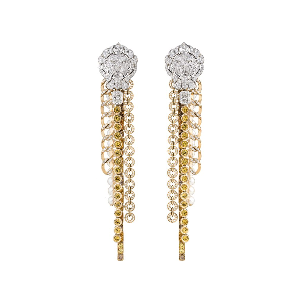 Chanel-Brillant-earrings-gold-diamond