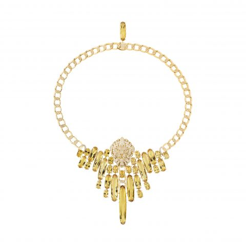 Chanel-Collier Dazzling-gold-yellow-beryls-diamonds