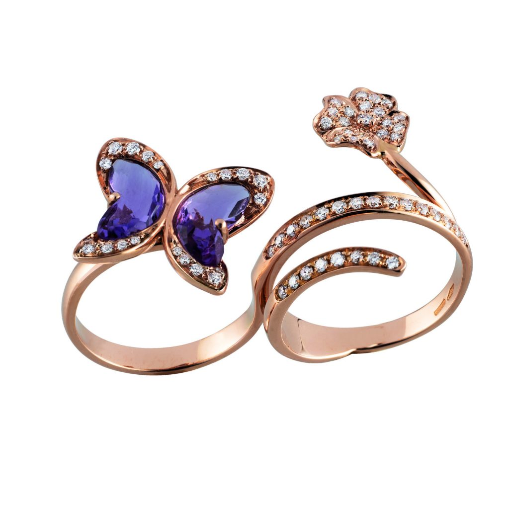 Moraglione-MADAME-BUTTERFLY-Rose gold-diamonds-and-amethyst