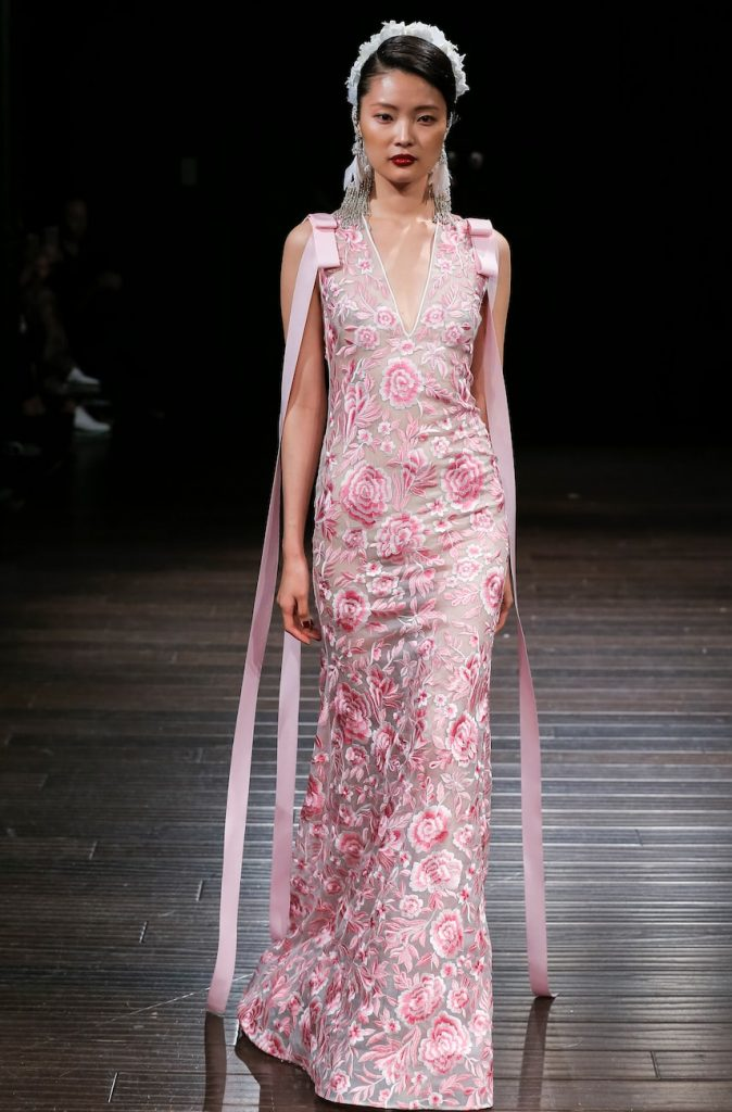 Naeem-khan-fall-2018-collection-pink-floral-gown-wedding-gown-dress