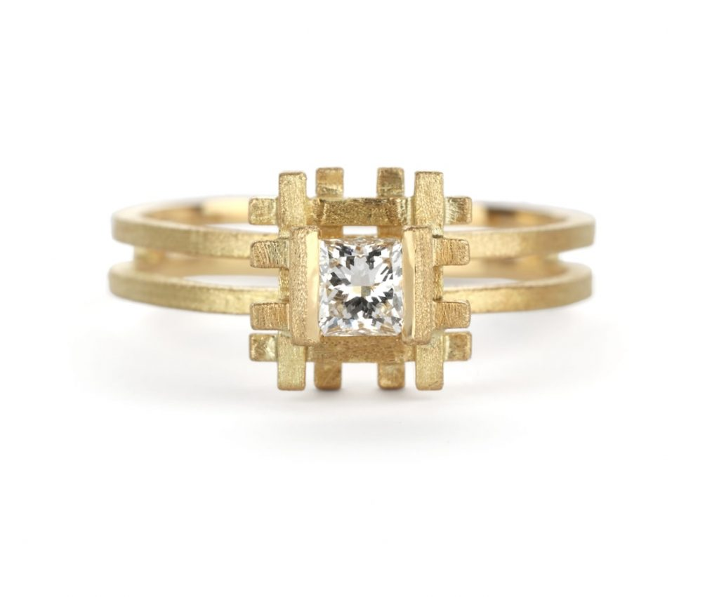 Unique-engagement-ring-Shimmel-and-Madden-PAR07Y_DIA