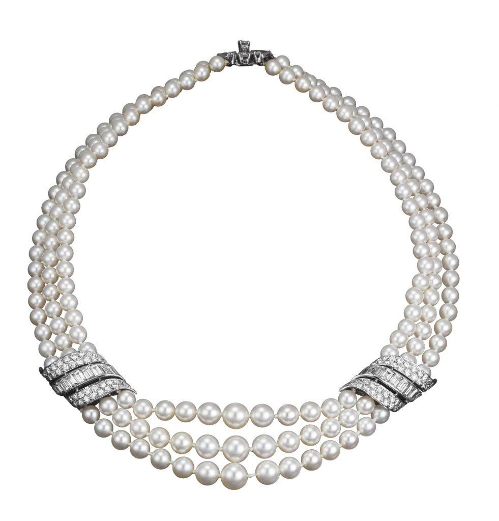 Grace-kelly-pearl-diamond-necklace-wedding-jewellery-van-cleef-arpels