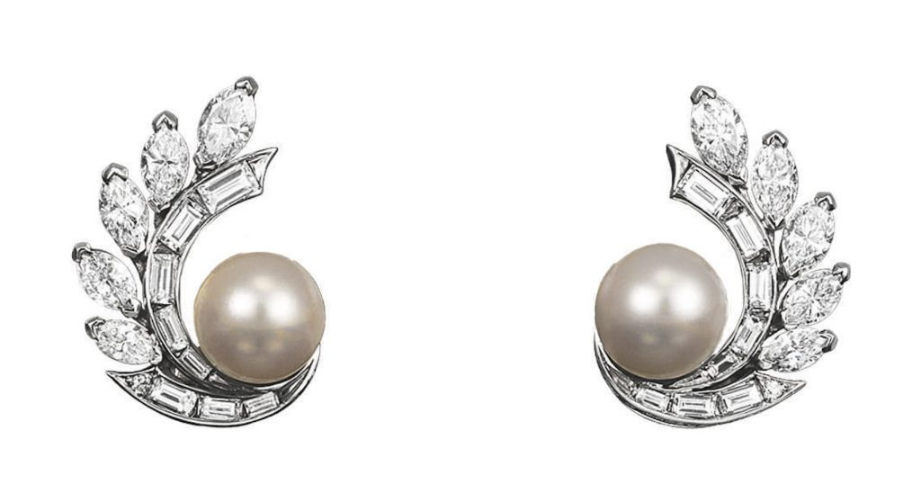 Grace-kelly-wedding-jewellery-set-pearl-diamonds-earrings-van-cleef-arpels