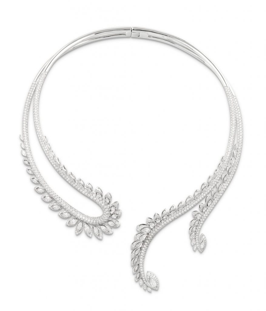 Sartoro-plume-diamond-necklace-bridal-jewellery
