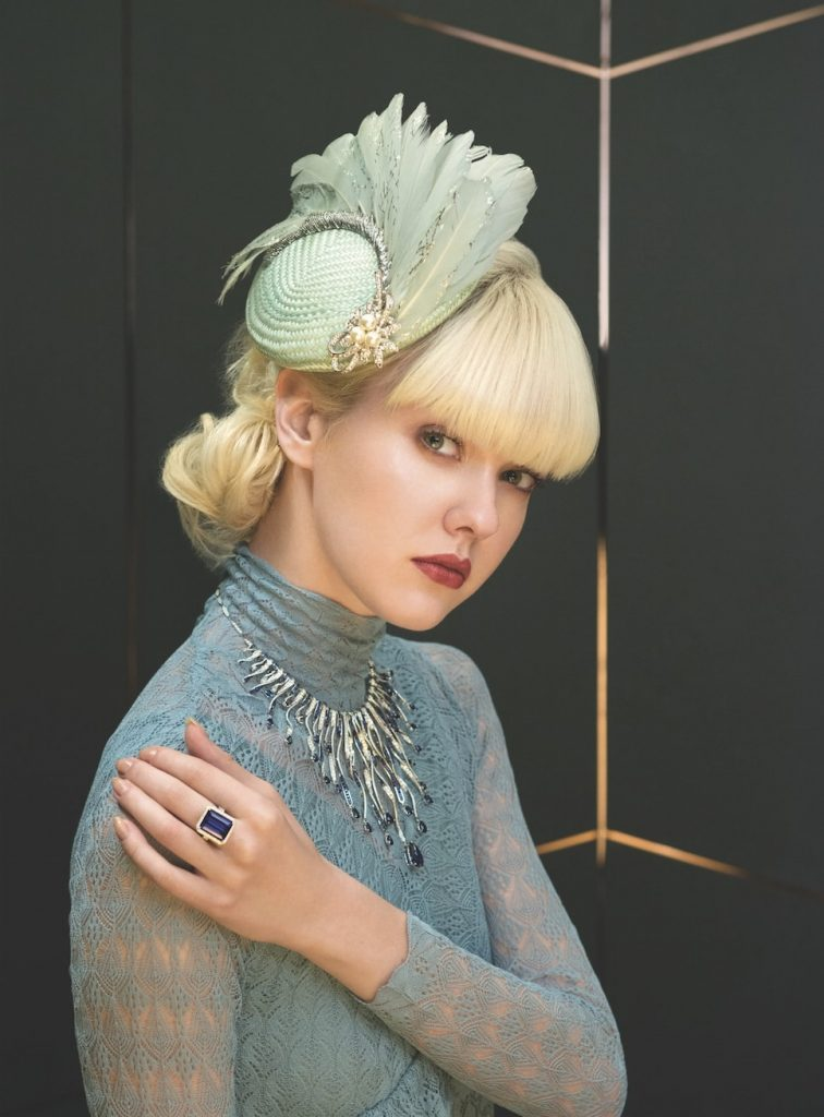 chic-contemporary-bride-inspiration-lace-dress-alexa-chung-high-jewellery-diamonds-sapphire-chopard