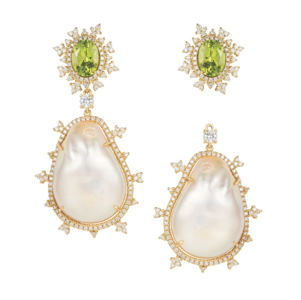 Nadine-aysoy-tsarina-earrings-baroque-pearls-peridots