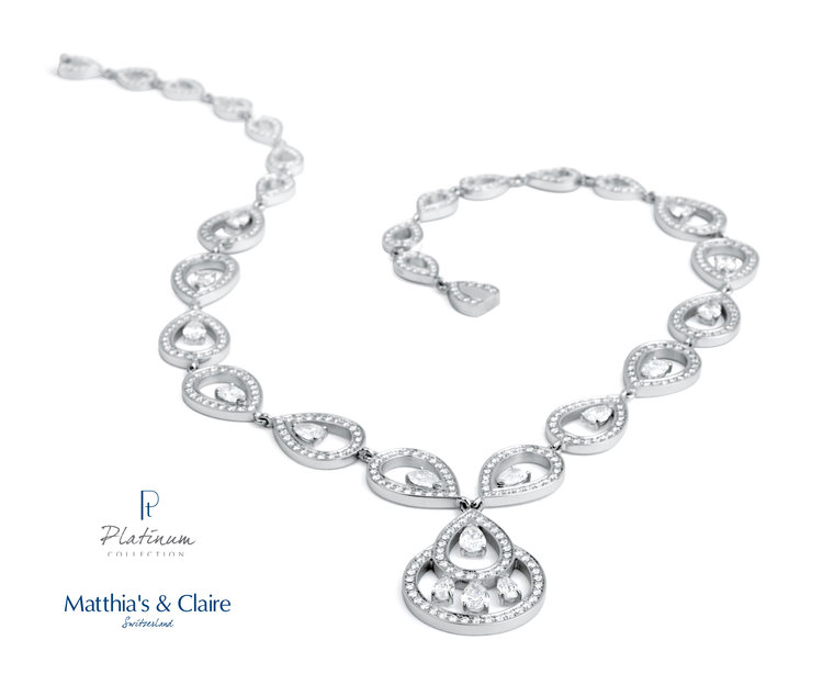 Matthia's and Claire jewellery- diamond and platinum necklace