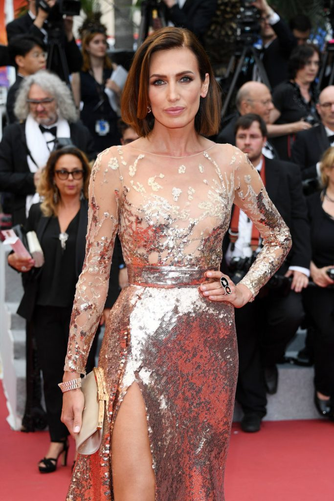 Nieves Alvarez in an Elie Saab gown