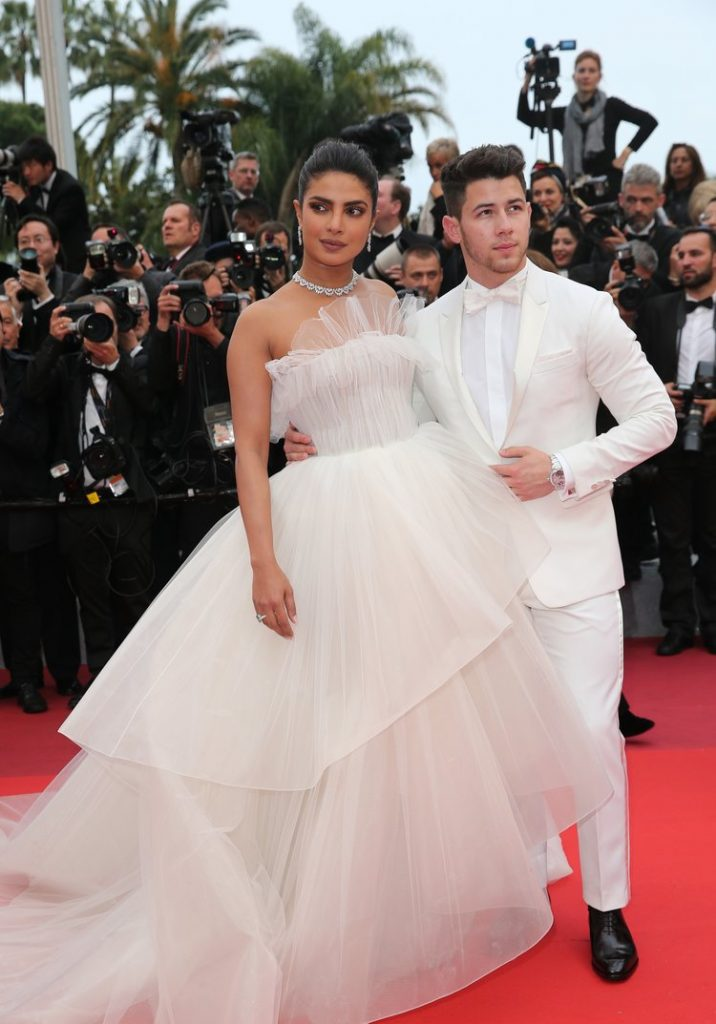 Priyanka Chopra with Nick Jonas at Cannes 2019 in Hobeika and Chopard