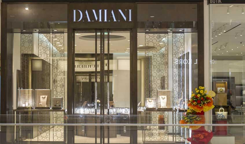 Front shot of the Damiani Kuala Lumpur store