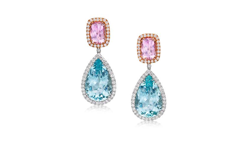 Drop earrings, FRONT TOP JEWELRY MFR LTD