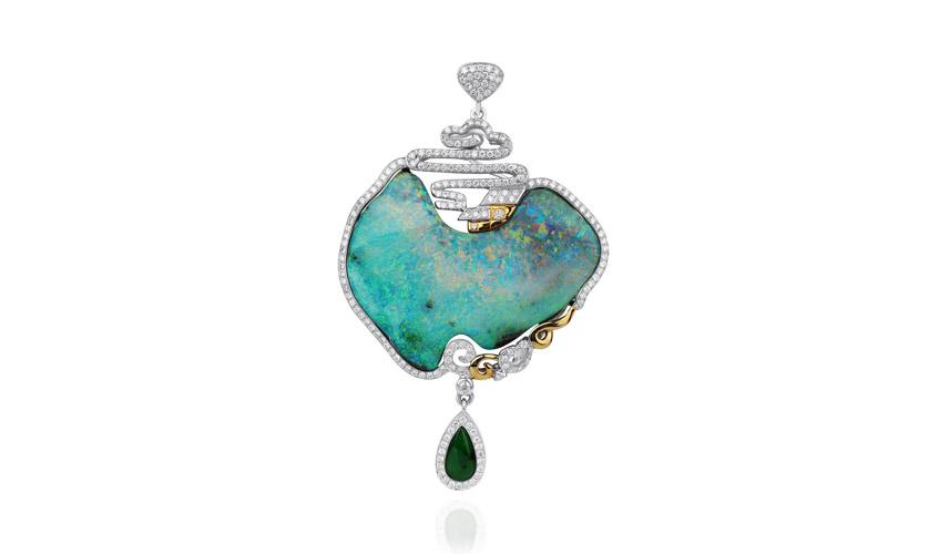 Opal brooch, POINTERS GEMCRAFT & JEWELLERY MANUFACTORY