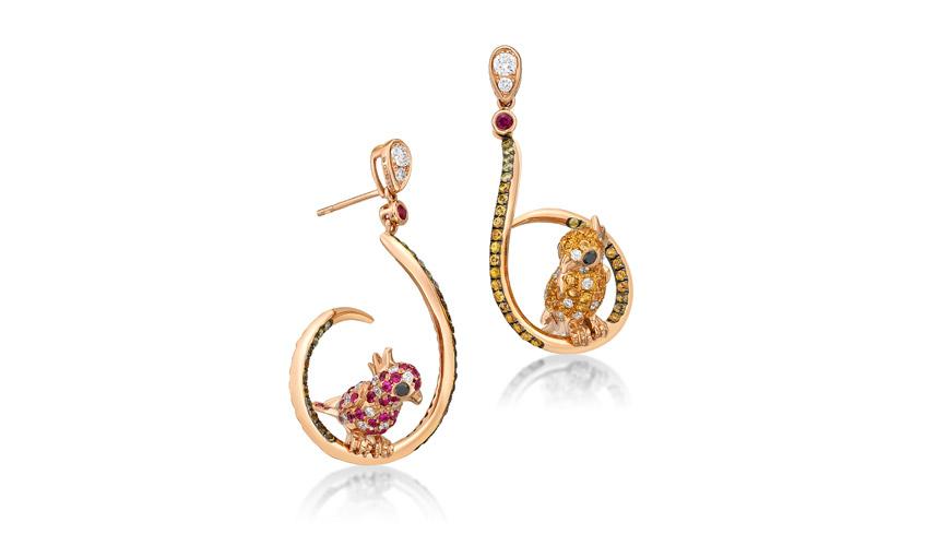 A pair of whimsical earrings, DAI SUN JEWELLERY CO LTD
