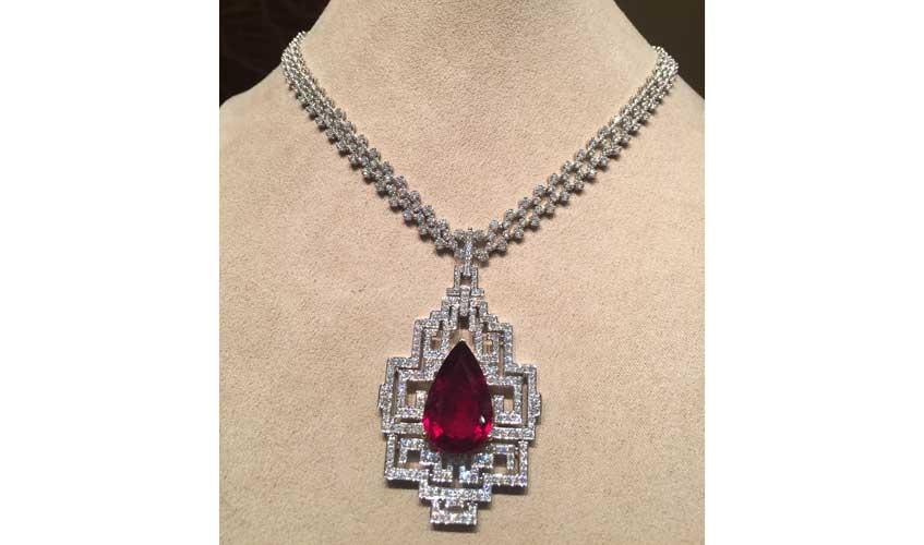 Rubellite necklace, THE JEWEL BOX