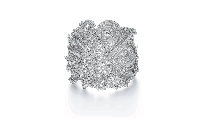 Cuff of marquise and round diamonds
