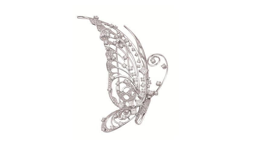 Diamond embellished hair pin - brooch, CHOW TAI FOOK