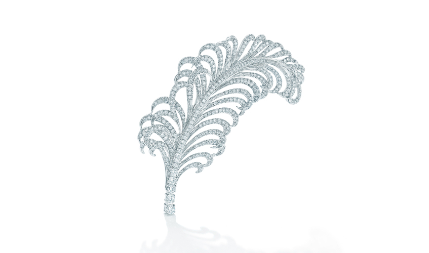 4. Feather shaped hair pin, 6.37ct, FOREVERMARK
