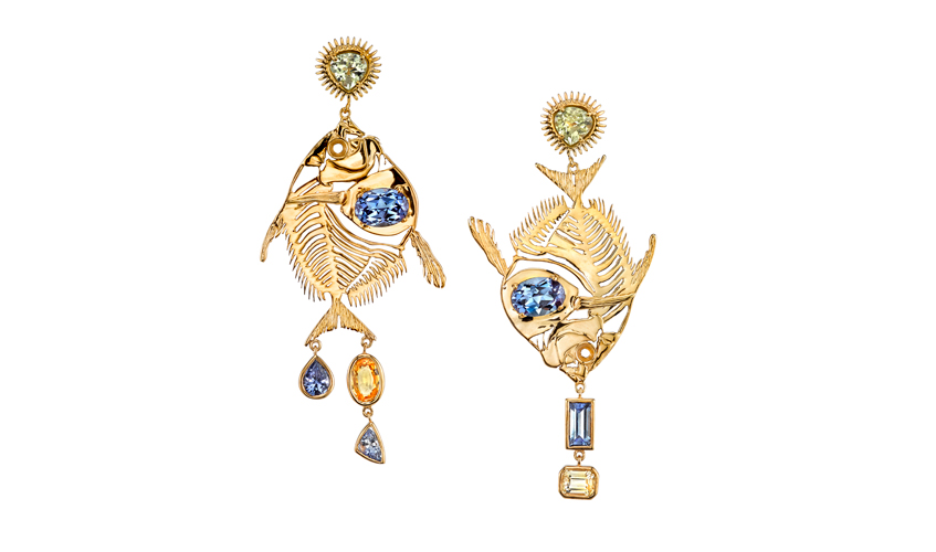 Butterfly Fish earrings from the Rebirth collection