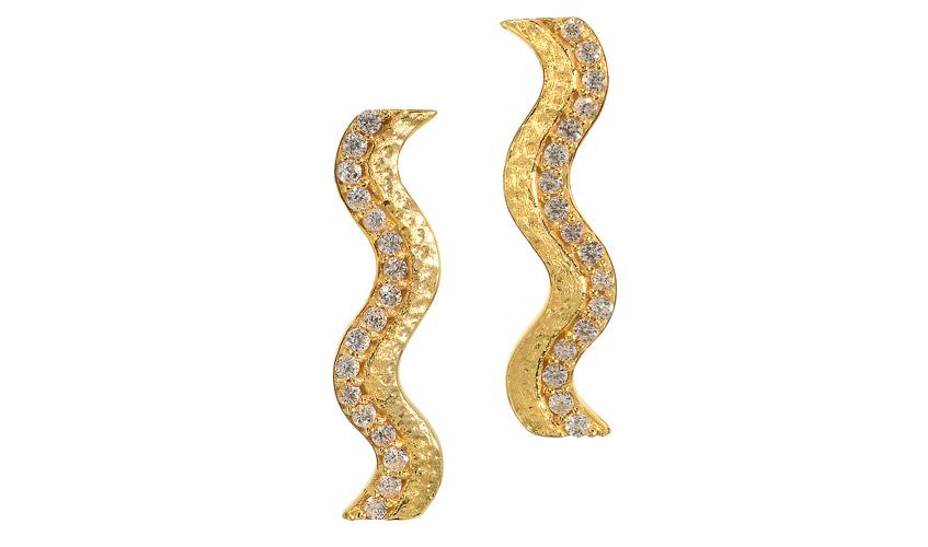 An Oceans Waves large earrings