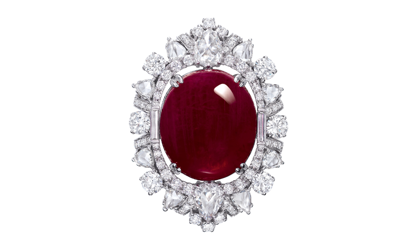 Vintage ruby and diamond ring, DILYS'