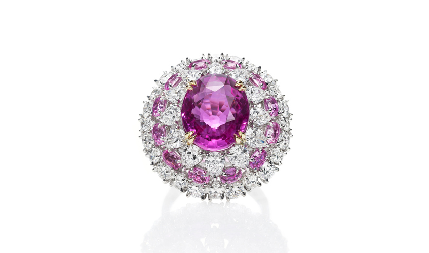 Pink sapphire ring, HARRY WINSTON