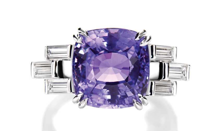 Colour change purple sapphire and diamond ring, HARRY WINSTON