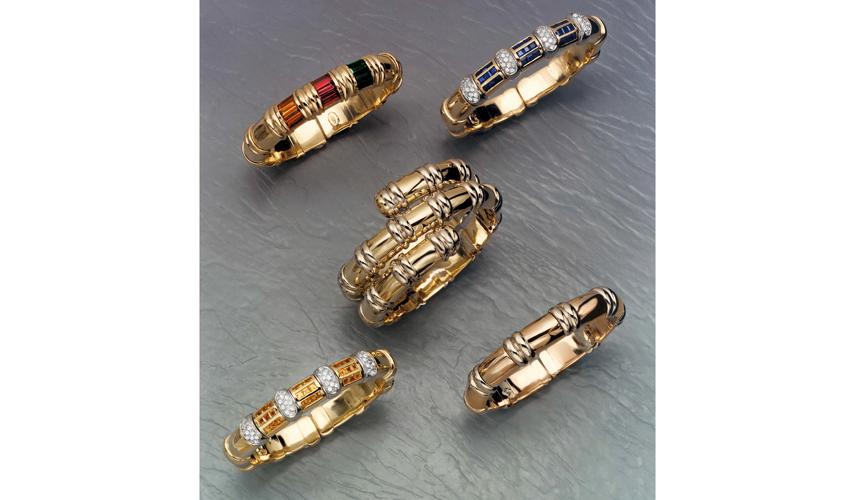 Vintage collection of Verdi's flexible bracelets
